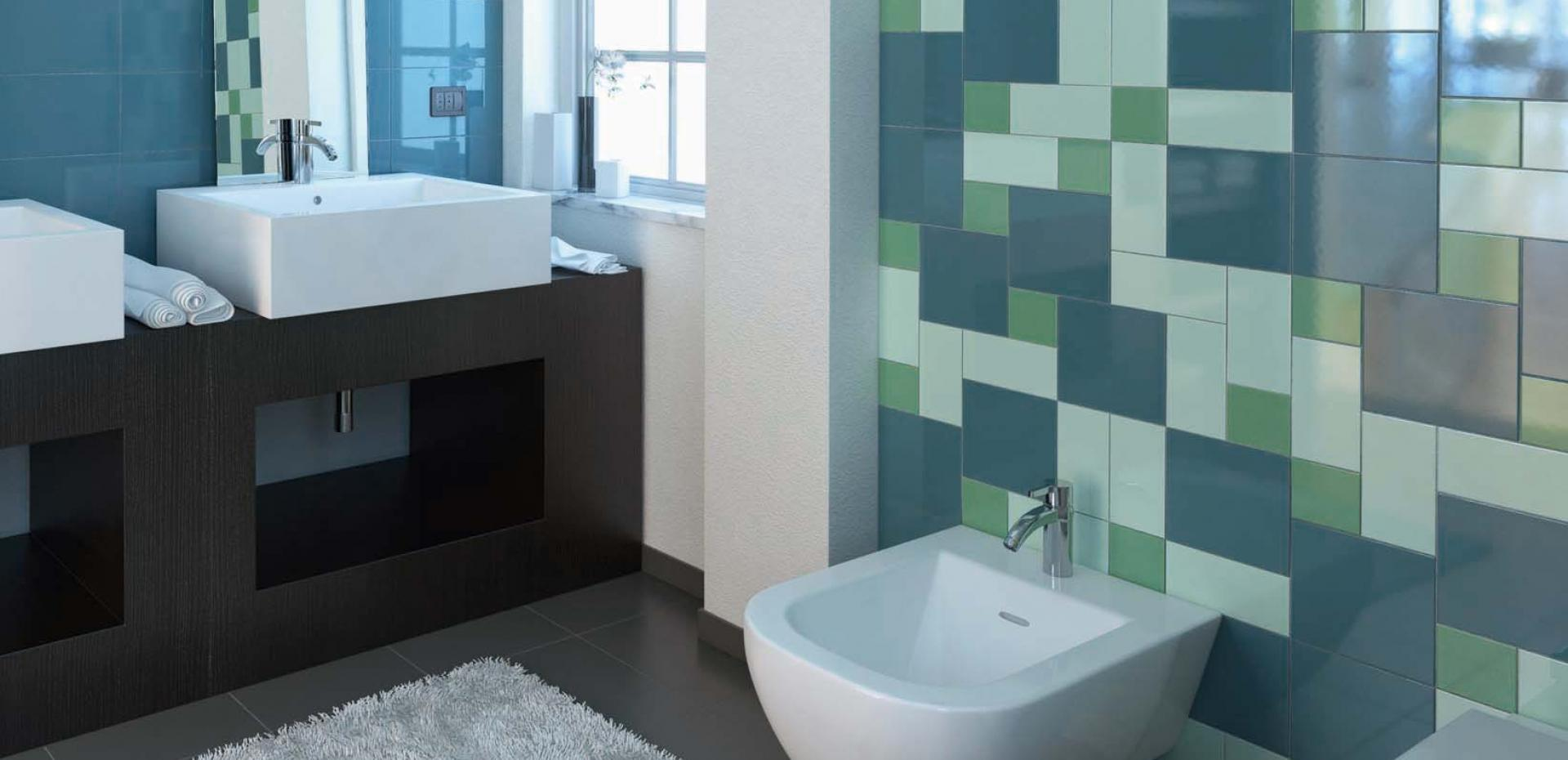 Piastrelle bagno colorate fabulous trasparenze collection with piastrelle bagno blu mare with - Incollare piastrelle su piastrelle bagno ...